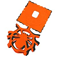 Gespout Banner Paper Bunting Banner Halloween Flag Pendants Pull Flowers Halloween Scene Decorations DIY Craft Cut Paper Flag(Spider)