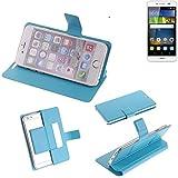 K-S-Trade Flipcover für Huawei Y6Pro LTE Schutz Hülle Schutzhülle Flip Cover Handy case Smartphone Handyhülle blau