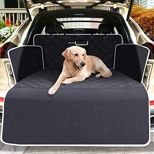 Pecute Kofferraumschutz für Hund Kofferraumdecke Hundedecke Auto mit Reißfeste Wasserdichter abwaschbar, Seitenschutz Schützt den Kofferraum und die Stoßstange vor Schmutz, Kratzern und Haaren