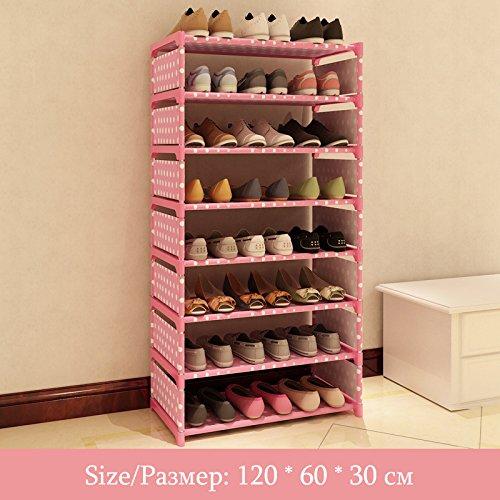 Eigenen Sie Passen Schuhe Ihre (Yocitoy 8 Tiers Schuhregal Stoff Schuhturm Organizer Super Platzsparende Schuhschrank Eingang Schrank Stackable Regale Pink)