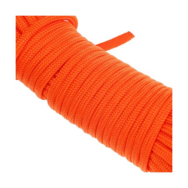 BeGrit 10 m 20 m 30 m Floating Rope Anchor Mooring Rope Multifunction Rope 6 mm Kayak Canoe Tow Throw Line with Aluminum… 5