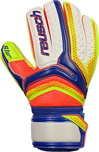 Reusch Kinder Serathor S1 Junior Torwarthandschuhe, Dazzling Blu/Safet Yello/Safet, 5