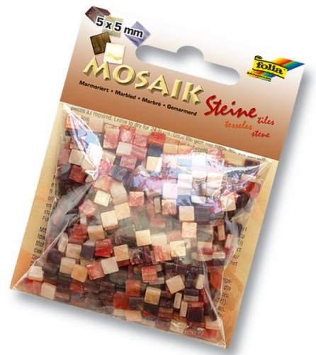 Mini-Mosaik Kunstharz Marmoriert, 5x5mm Blau [Spielzeug] - Mosaik Kunstharz