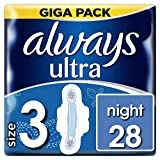 Always Ultra Night Serviettes hygiéniques avec ailettes, lot de 3 (3 x...
