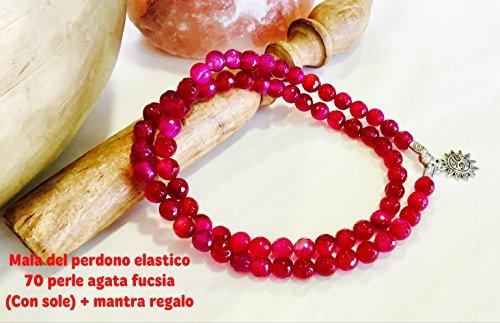 mala-del-perdono-pietra-agata-fucsia-8-mm-elastico-ciondolo-sole-custodia-a-sacchetto-mantra-del-per