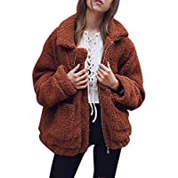Abrigos Mujer Invierno,Casual Chaquetas de Piel sintética Mujer Invierno,Cálido Capa Parka Abrigo Cardigan de Mujer por Lunule