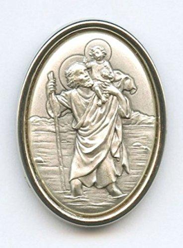 Plaque auto Saint Christophe ovale - protecteur des automobilistes (livraison gratuite)