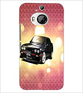 PrintDhaba Car D-3430 Back Case Cover for HTC ONE M9 PLUS (Multi-Coloured)