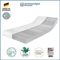 Ravensberger Matratzen 7-Zonen Matratze Softwelle | HR Kaltschaummatratze H1 RG 40 (0-45 kg) | MADE IN GERMANY - 10 JAHRE GARANTIE | ÖKO-TEX® 100 Bezug Baumwoll-Doppeltuch 90x200 cm