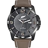 All Blacks Herrenuhr Analog Quarz mit Lederarmband – 680234