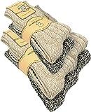 normani 2, 4 oder 6 Paar Antirutsch Norweger Socken mit ABS Sohle Farbe Mehrfarbig - 6 Paar Größe 35/38