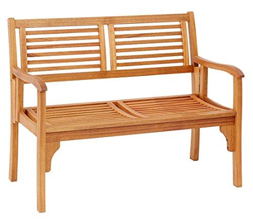 Dehner Klappbank Douglas, 2-Sitzer, ca. 119 x 62 x 90 cm, FSC Akazienholz, geölt, natur