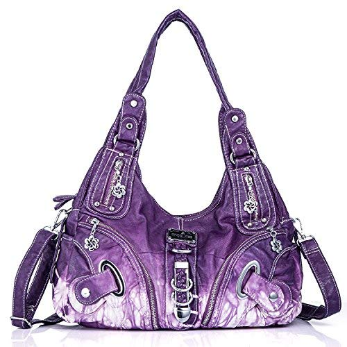 Purses and Handbags for Women Ladies Shoulder Bag Designer Tie Dye Satchel  Fashion Totes for bc4a8aaf39d2c