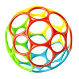 #4: Leoie Soft Colorful Ball Toys Touch Bite Caught Hand Oball Ball for Baby Learning Grasping Kids Gift