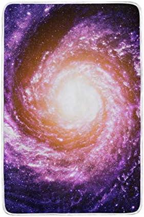 DOSHINE Twin Couverture, l'univers Galaxie Spirale Outer Space 152,4 Doux léger Warmer couvertures 152,4 Space x 228,6 cm pour canapé lit Chaise de Bureau 359498