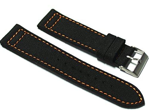 custom-hadley-roma-22mm-black-cordura-fabric-watch-strap-with-orange-stitch