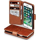 iPhone 8 / iPhone 7 Case, Terrapin [ECHT LEDER] Brieftasche Case Hülle mit Kartenfächer und Bargeld für iPhone 8 / iPhone 7 Hülle Cognac