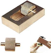 Hrph El arte de cuero elaboración de aceite de la caja de herramientas Pintura + 2 rodillos de latón Fabricación de la mano de bricolaje herramientas