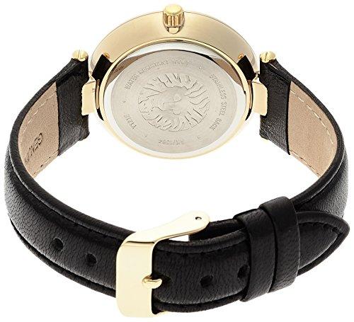 0befa98c3 27% OFF on Anne Klein Women's AK/1064BKBK Gold Tone Black Leather Strap  Watch on Amazon | PaisaWapas.com
