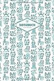 Notizbuch Punktraster: Für den Tierarzt und die Tierärztin | Motiv: VetMed Icons Türkis | 120 Seiten | Superhandliches 6x9 Fo