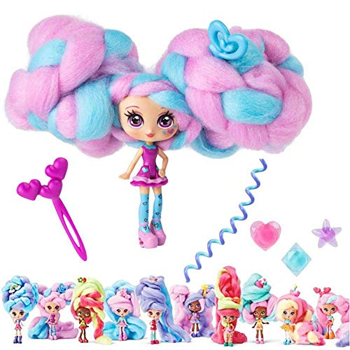 Fashion Dolls Candy Scented Collectible Surprise Braided Hair Dolls Set with Accessories for Kids (Random Color)