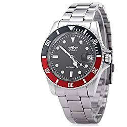Leopard Shop WINNER W042602 Male Wristwatch Automatic Mechanical Watch Luminous Date Display Transparent Back Cover #3