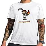 HARIZ Pixbros Collection Herren T-Shirt Weiß Designs Wählbar Deutschland Trikot WM EM Fahne Inkl Urkunde Bang Sticks Pixbros07: Schlandbert L
