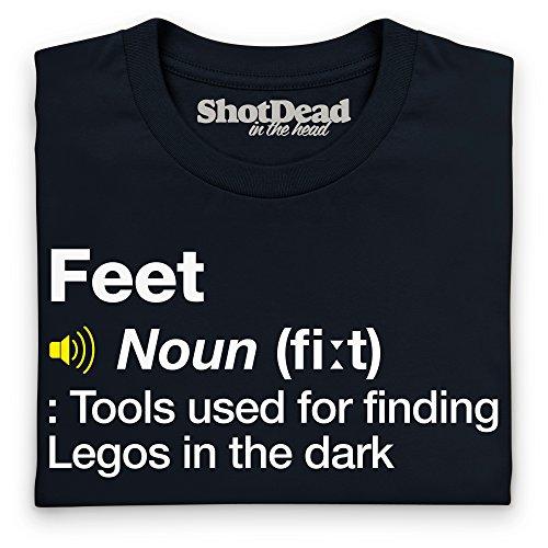 Definition of Feet T-Shirt, Damen Schwarz