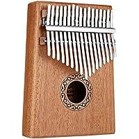 TZZD 17 Claves del Pulgar del Dedo del Piano Piano Musical Juguetes con Tune-Martillo y Libro de música (Color : Mahogany Color)