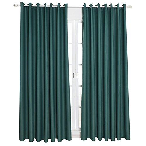 Kong EU Pure Color 2Platten Blackout Vorhang mit Ösen, weiche Solid Drapes Fenster Behandlung Hohe Shading für Schlafzimmer Wohnzimmer, Polyester, dunkelgrün, 100cm Wide x 130cm Drop