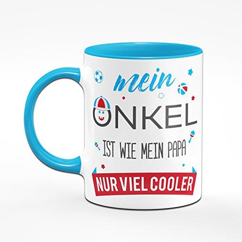 Tasse Mein Onkel ist wie mein Papa nur viel Cooler - Kaffetasse Geschenk für den Onkel - 2