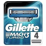 Gillette Mach 3Turbo remplacement de rasoir de rasage pour homme–Lot de 4