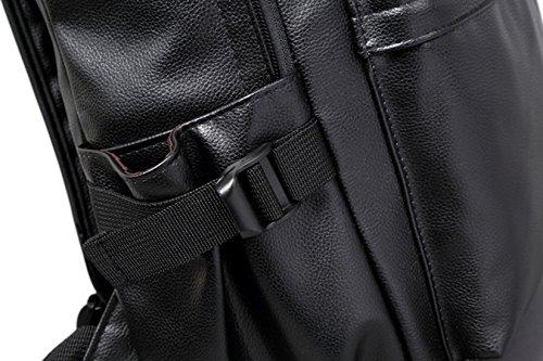 Keshi Pu neuer Stil Schulrucksäcke/Rucksack Damen/Mädchen Vintage Schule Rucksäcke mit Moderner Streifen für Teens Jungen Studenten Weiß