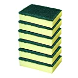 #6: Cello Kleeno Sponge Scrub Pad (Green and Yellow, Pack of 6)