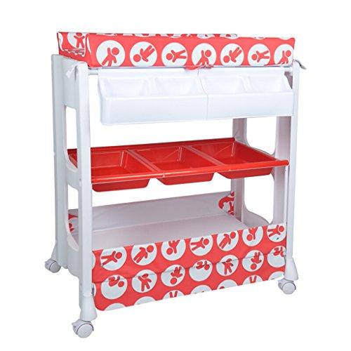 ALUK- Bébé Table à Langer/Multifonction en Plastique Nursing Desk Baby Touch Massage lit Douche Stand Table de Finition Convient pour 0~2 Ans bébé Violet/Rouge/Gris/Jaune Quatre Couleurs en