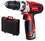 Einhell Perceuse visseuse sans fil sur batterie TC-CD 12 Li (Li-lon, 12V, 1300 mAh, 20 Nm,2 vitesses, Mandrin amovible monobloc (10 mm), Eclairage LED, Livré en coffret + chargeur rapide)
