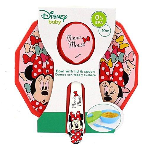 Minnie Mouse Toddler Schüssel mit Deckel und Löffel Farbe Bows ', (Stor st-45376)