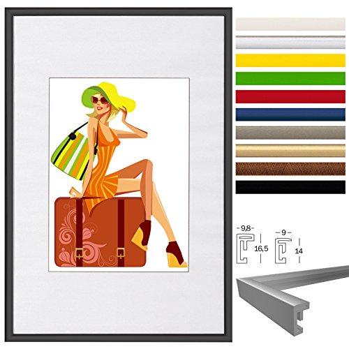 EUGAD #315 Bilderrahmen New Life Style , Bildergalerie Foto Rahmen Galerie Collage , Kunststoff Rahmen , mit Passepartout , Schwarz, 30x45cm BR9895sz