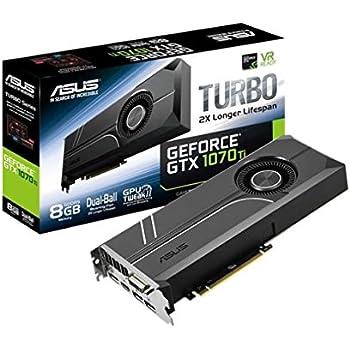 ASUS TURBO-GTX1070-8G - Tarjeta gráfica (Turbo, NVIDIA GeForce GTX ...