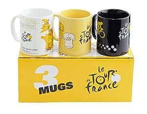 Tour de France Lot de 3 mug 3 Couleurs