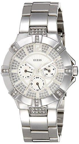 Guess Vista W12080L1 - Reloj de mujer de cuarzo, correa de acero inoxidable color plata
