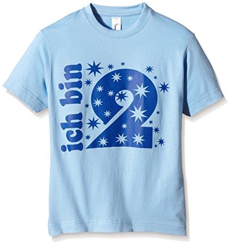 Coole-Fun-T-Shirts Jungen Ich Bin Ich Bin 2 Jahre ! T-Shirt, Blau (Sky-Navy), One Size (Herstellergröße: 98cm/1-2 -