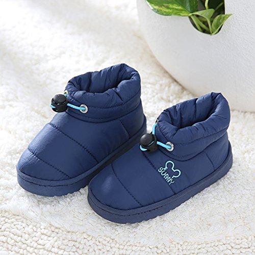 Inverno fankou pantofole di cotone borse con bambini 's thick - fondo anti-skid home impermeabile Kinder rosa