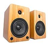 Kanto YU6 Regallautsprecher mit Bluetooth und Phono Vorverstärker - Bambus