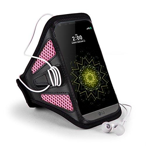 Rosa/Negro de malla al aire libre Correr Deporte Gimnasio brazalete Carcasa para iPhone 7Plus/Samsung Galaxy S8Plus/Nota 8/A5/A7LG lápiz capacitivo 3/LG G6/K8/K10/P6/Motorola Moto G5S Plus/E4Plus/Z2play/BLU Vivo 8/R2/Wileyfox Swift 2X/Huawei P10Plus