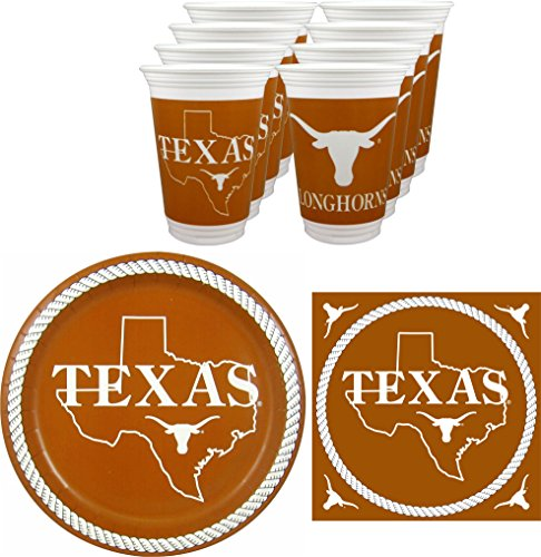 Westrick Texas Longhorns Party-Set, 48 Stück