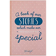 "Mr. Wonderful WOA03090 - Libro con mensaje ""A book of our stories which make our friendship so special"""