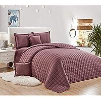 طقم لحاف مضغوط وجهين مفرش سرير 4 قطع ، مقاس مفرد