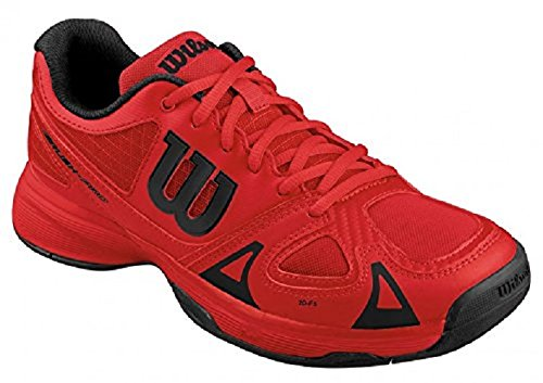 Wilson Rush Pro JR, Unisex-Kinder Tennisschuhe, Mehrfarbig Red Red Black, 37 2/3 EU (4.5 Kinder UK)
