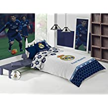 Juego Funda Nórdica Manterol Real Madrid Mod. Estadio 258 Cama 105 cm.